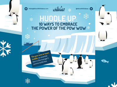 Huddle Up penguins vector illustration vector data infographics infographic