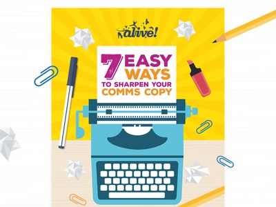 Sharpen Your Comms Copy data design vector illustration infographics infographic