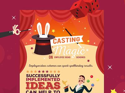 Casting Magic magic design data vector illustration infographics infographic