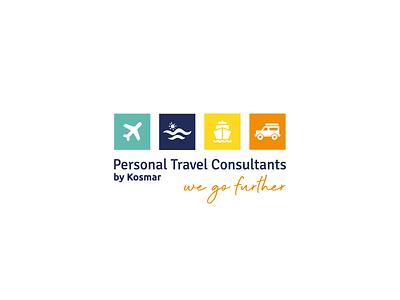 Kosmar Holidays Logo Design traveling branding logo design logo