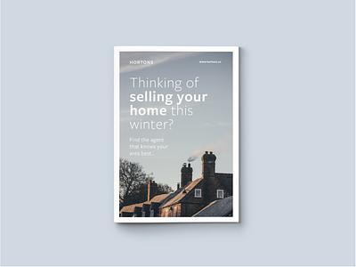 Hortons Real Estate property leaflet poster brochure real estate
