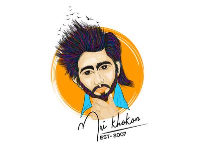 MRI KHOKON Logo Update ui branding logo design illustration artistic creative drawing action mrikhokon