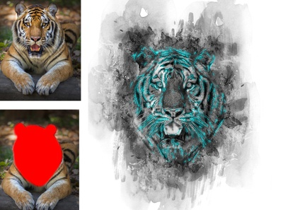 Flex Photoshop Action tutorial texture sketch professional photoshop photography paint outlines mixed media hand drawn grungy grunge glow effects detailed colorful black and white artistic actions abstract