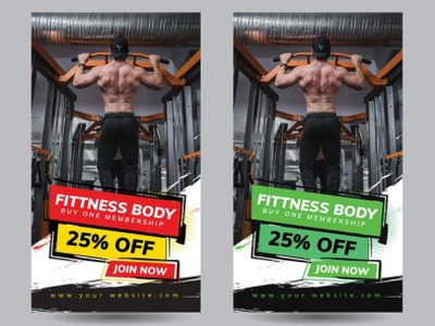 Instagram gym post template