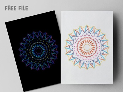 Free Alpona Vector Design by Mri Khokon on Dribbble