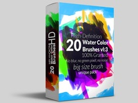 Hi-Res Watercolor Photoshop Brushes 3