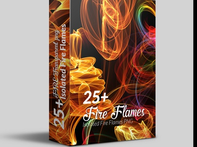 25 High Quality Hi Res Isolated Fire Flames