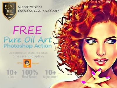 Free Pure Oil Art Action