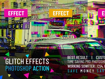 Free Glitch Effects Photoshop Action