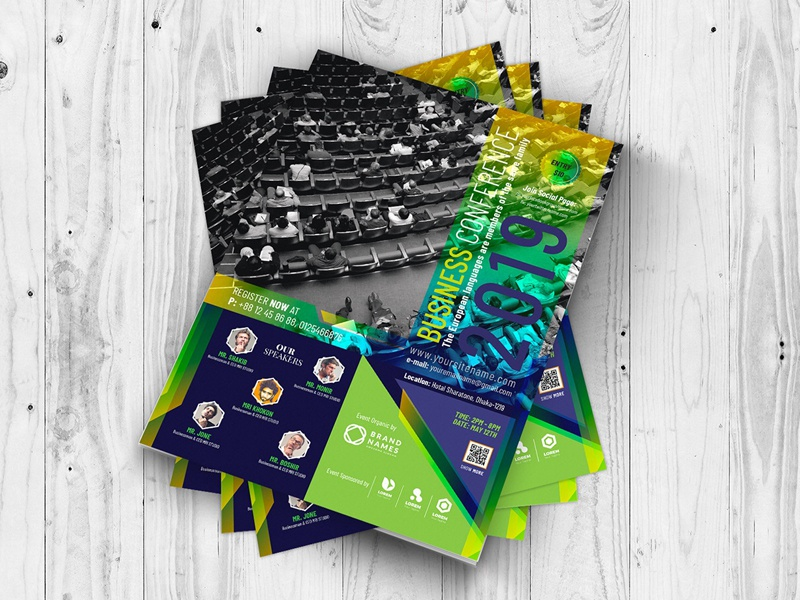 business conference flyer template by mri khokon dribbble dribbble