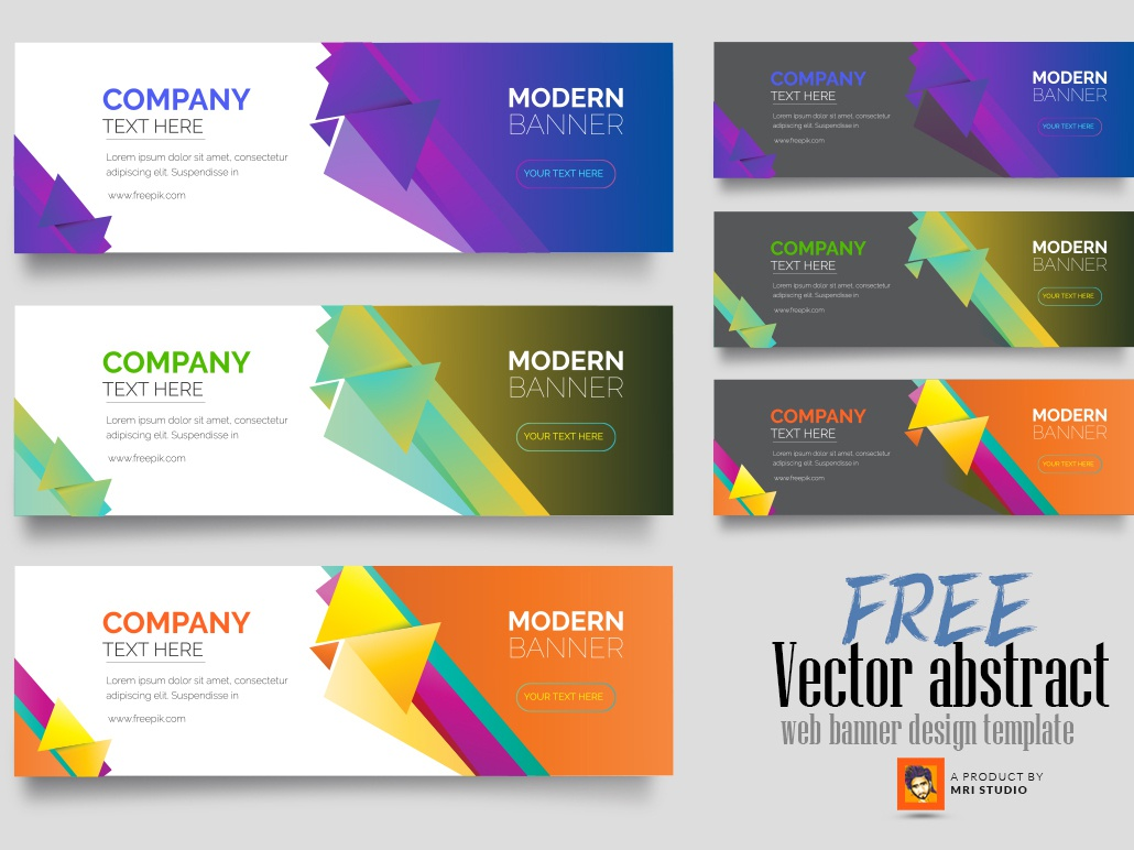 Free Vector Abstract Web Banner Design Template By Mri Khokon On Dribbble