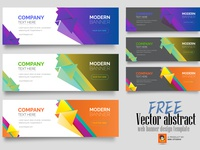 Free Vector abstract web banner design template
