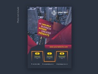 Abstract corporate flyer Design