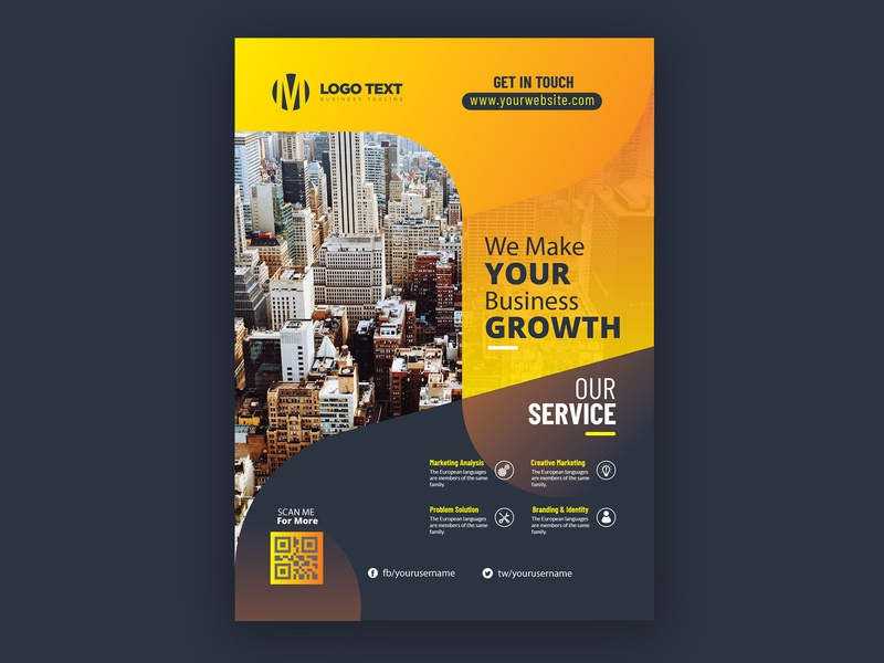Corporate Flat Flyer Template free flyer multipurpose mri khokon marketing magazine layouts layout flyer template flyer digital flyer creative corporate flyer corporate business flyer business agency adverts advertisement advert ad