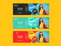 Modern fashion sale web banner
