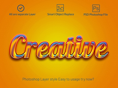Gold glossy Photoshop layer style