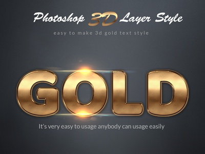 Gold Photoshop Layer Style