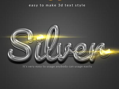 3d silver Photoshop layer Style
