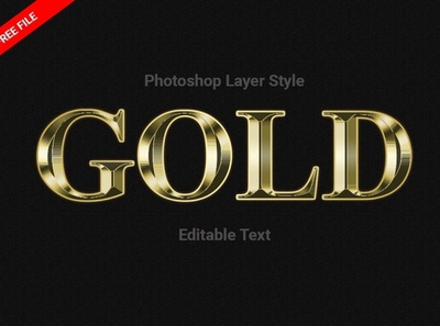 Gold Style Photoshop (FREE Download) glow neon neon effect neon layer styles psd gradients layered psd layer styles crystal metal stone bevel free layer style free free style free psd freebie