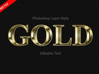 Gold Style Photoshop (FREE Download)