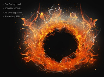 Fire ring background isolated hi-res hero images grunge fog flowing flame effects dynamic dust decorative clean burn brush black background artistic abstract smoke fire
