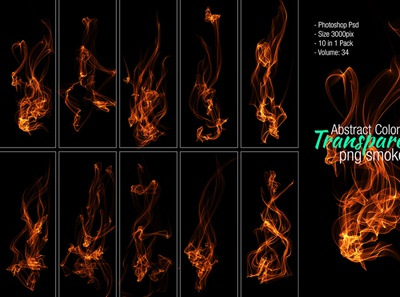 Fire Photoshop PSD isolated hi-res hero images grunge fog flowing flame effects dynamic dust decorative clean burn brush black background artistic abstract smoke fire
