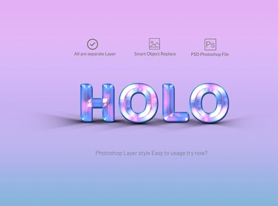 Holographic text style