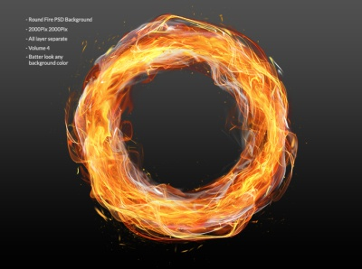 Circle fire PSD layer
