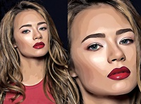 Vector Portrait Photoshop Effect
