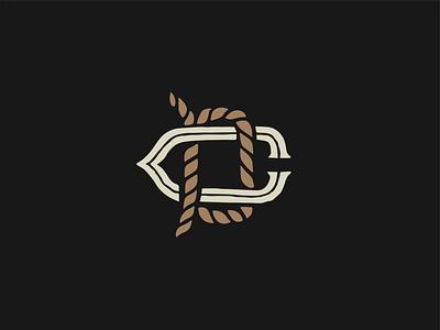 DC logotype mark trademark logo design branding logo design vector rope icon logo monogram logo