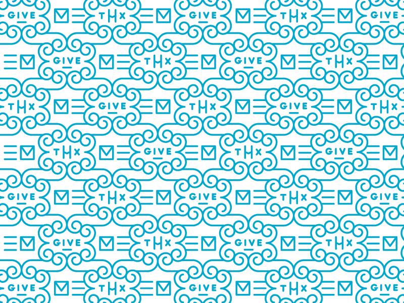 Give Thx pattern vector illustration typography thx thank you