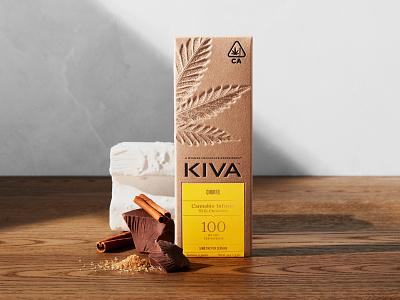 KIVA — A Higher Chocolate Experience™ label edibles weed deboss cannabis branding packaging chocolate stout kiva confections cannabis packaging cannabis kiva