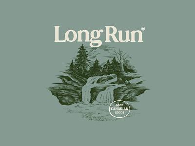 LongRunFun wordmark logotype typography streetwear style vintage nature illustration shirt apparel