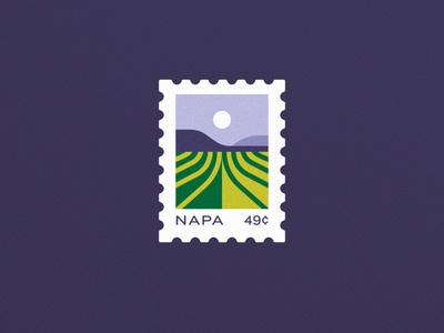 Stamp'd Out vineyard icon california napa wine postage illustration vector stamp