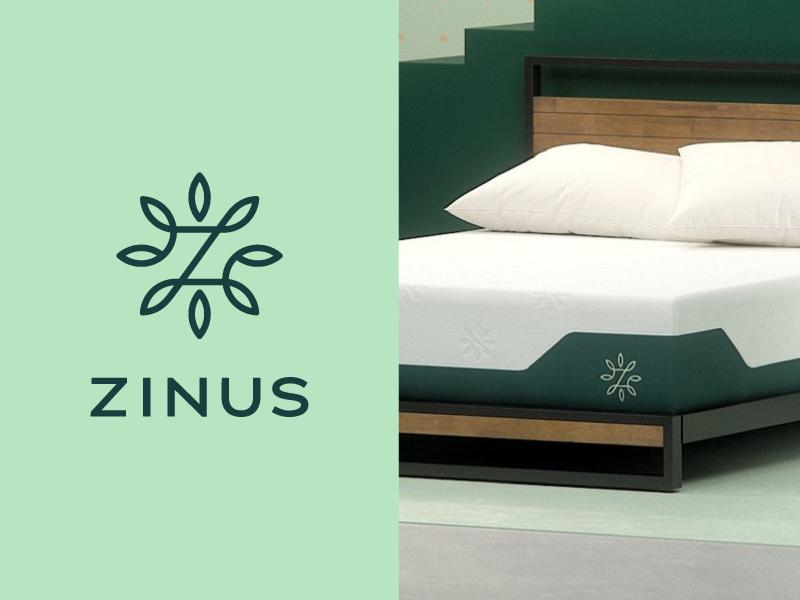 Zinus Logo z leaf pillow mattress stout identity branding icon trademark logotype logomark logo