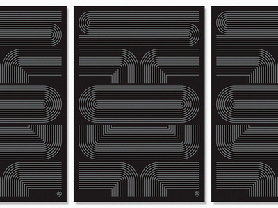 S T O U T repetition custom lines lettering silkscreen screenprint stout poster typography type