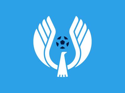 Independent FC stout kids dove ball bird identity sports futbol soccer trademark mark logo