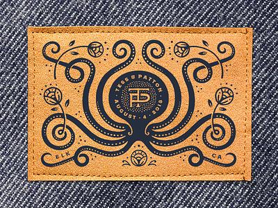 OctoPatton & Tess logo blanket label crest icon flower procreate ipad monogram wedding octopus illustration
