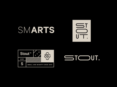 Stout and about icon lettering typography black smarts arts stout type logotype