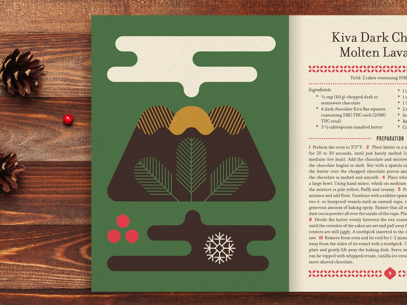 Sneaky Peekers kwanzaa cake illustrations weed stout typography layout print recipe kiva hannukah christmas lava cookbook cannabis holiday illustration