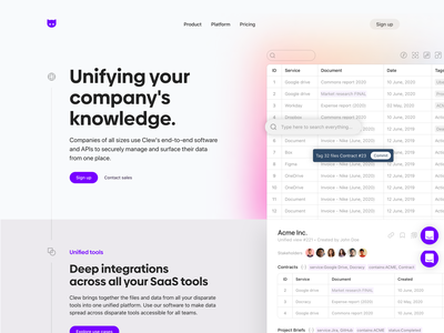 Clew Landing Page Exploration clew landing