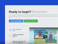 Learn Blockchain with Alcamy – UI
