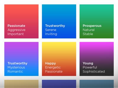 Colors and Feelings design branding feelings colors