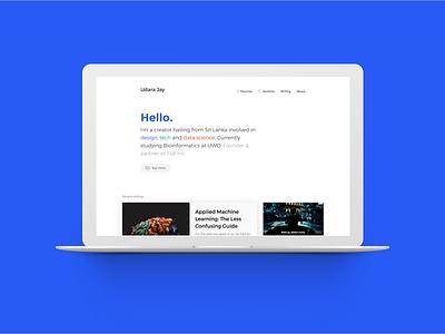 New Personal Website blog wordpress portfolio website