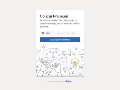 Concur: Payment Card design card payment