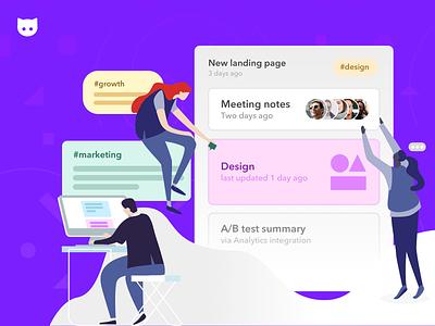 Clew: Collaboration design illustration landing collaboration