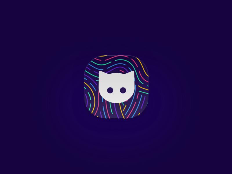Clew Fingerprint design logo cat clew