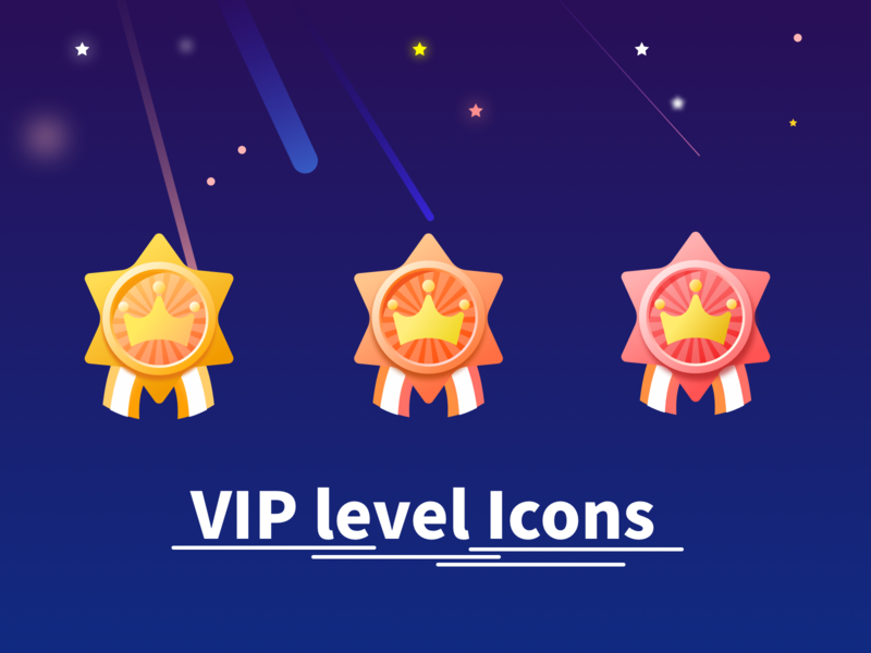 会员等级图标 VIP Level Icons vector design ui ux minimal logo illustration