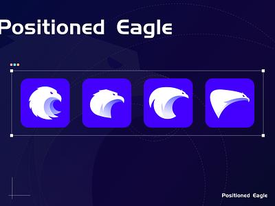 positioned eagle art branding logo minimal illustration ui design