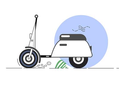 electric bicycle ui ux app art illustration design